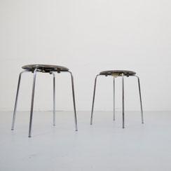 2er Set mid century Hocker DOT Arne Jacobsen für Fritz Hansen