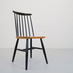 vintage Holzstuhl Speichenstuhl 50er 60er Jahre mid century Stuhl Esszimmerstuhl