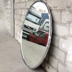 groér runder Spiegel mit facettiertem Chromrahmen,Conni Kern Interior: Design und vintage Möbel, Leuchten und Objekte in Mannheim