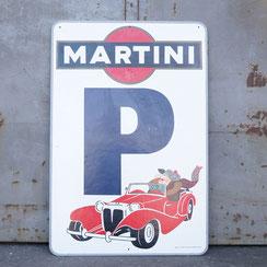 großes antikes Martini Schild, Conni Kern Interior: Design und vintage Möbel, Leuchten und Objekte in Mannheim