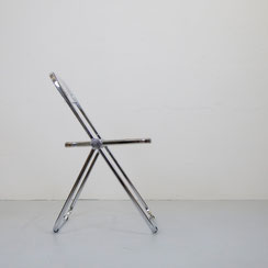 vintage Plia Klappstuhl Giancarlo Piretti für Castelli Acryl folding chair