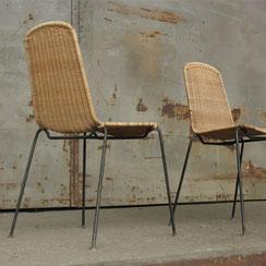 2er Set Basket Chairs, Conni Kern Interior: Design und vintage Möbel, Leuchten und Objekte in Mannheim