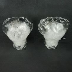 2er Set Kalmar Eisglas Wandleuchten, Conni Kern Interior, vintage Möbel und Designklassiker in Mannheim