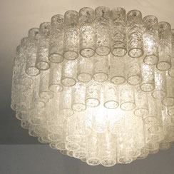 Doria Eisglas Kronleuchter, Conni Kern Interior, Design und vintage Möbel in Mannheim