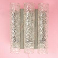 große Doria Wandleuchte mit Eisglas Glasröhren. Conni Kern Interior, vintage Möbel, Leuchten und Objekte. Designklassiker in Mannheim.