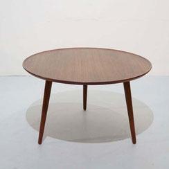 Anton Kildeberg coffee table circular teak couchtisch rund vintage mid century modern