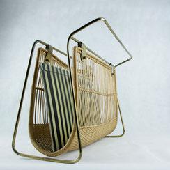 Zeitungsständer Basket Wire mid century Design Auböck Ära