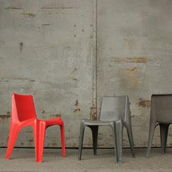 Bofinger Stuhl BA1171 rot grau, Conni Kern Interior, Design und vintage Möbel in Mannheim