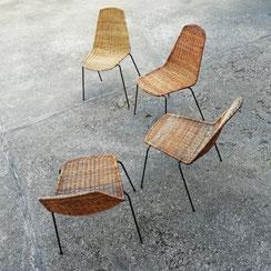Gianfranco Legler Basket Chairs, Conni Kern Interior, vintage Möbel und Designklassiker in Mannheim