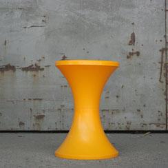 Tam Tam Hocker Tabouret orange, Conni Kern Interior, Design und vintage Möbel in Mannheim