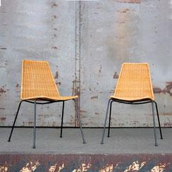 2er Set Basket Chairs Gianfranco Legler, Conni Kern Interior, vintage Möbel und Designklassiker in Mannheim.