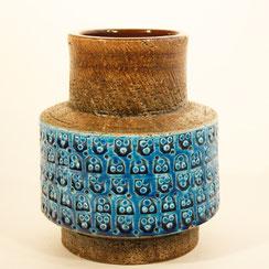 Bitossi Vase von Aldo Londi in rimini blu, Conni Kern Interior: Design und vintage Möbel, Leuchten und Objekte in Mannheim
