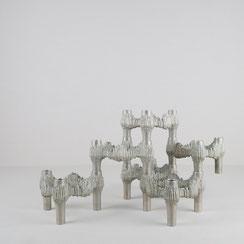 Modulares Kerzenhalter Set aus Metall von Fritz Nagel für Quist, 1960er