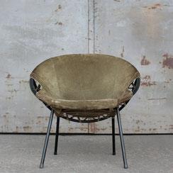 mid century Balloon Chair Lusch & Co Germany. Conni Kern Interior, vintage Möbel und Designklassiker in Mannheim.