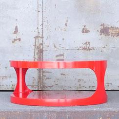 runder space age Couchtisch in rot, Conni Kern Interior: Design und vintage Möbel, Leuchten und Objekte in Mannheim