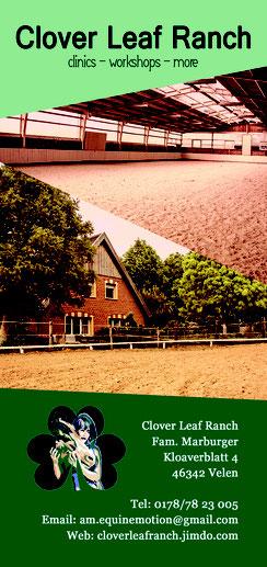 Clover Leaf Ranch im Münsterland; Ein Ort für Pferdeliebhaber. Hier finden viele interessante Kurse, Seminare und Workshops rund ums Pferd statt