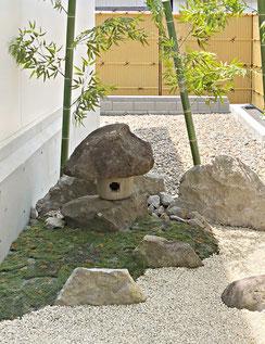 松代柴石 庭石 灯籠