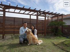 フェンス、イタウバ、横板フェンス、施工例