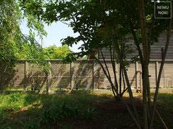 ウッドフェンス、目隠しフェンス、イタウバ、オスモカラー、施工例