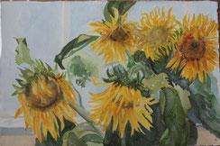 zonnebloemen(1) 40/60 ( aquarel )