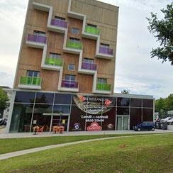 Extérieur et parking de Ma Boulangerie Café St Nazaire 44