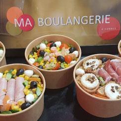 Salades composées Ma Boulangerie Café Vannes