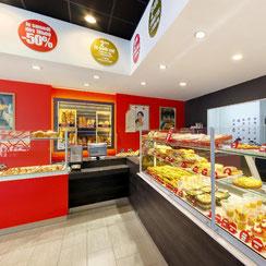 Interieur boutique ma boulangerie café St Nazaire