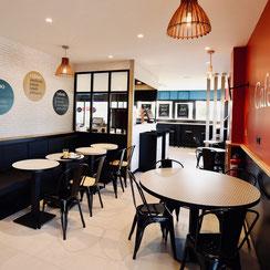 Salle de restauration Ma Boulangerie Café Saujon