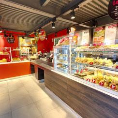 intérieur boutique ma boulangerie café Loches