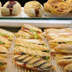 Sandwiches quiches hot dog Ma Boulangerie Café St Nazaire