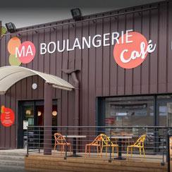 Façade Ma Boulangerie Café Le Blanc
