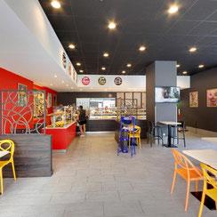 Salle repas boutique ma boulangerie café St Nazaire