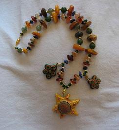 Die Halskette: Sunflowerpower