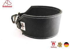 Windhundhalsband schwarz creme 6 cm breit Handarbeit