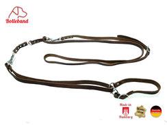 Ablaufleine Befreiungsleine braun Leder 15 mm breit Bolleband