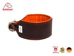 Windhundhalsband gepolstert braun orange Bolleband