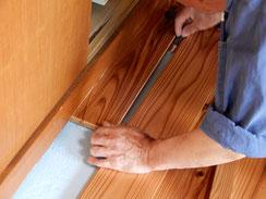 無垢板の床 張り替え 杉材