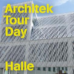 Titelbild ArchitekTour Halle, Blick auf einen Ausschnitt des Gebäudes der Bundeskulturstiftung Halle