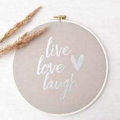 "Wanddeko ""live, love, laugh"""