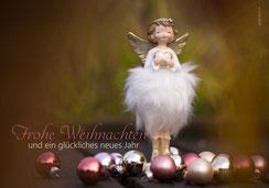 Weihnachtskarten Engel, Engel mit Herz, Engel, Weihnachtskarte, Eleganter Engel, Weisser Engel