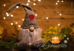 Weihnachtskarte mit Spruch, ein Licht