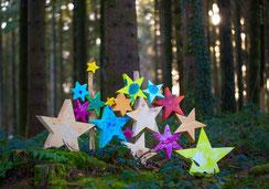 Weihnachtskarten, Weihnachtskarte mit Sterne, Sterne, Adventsweg Geiss, Adventsweg, Geiss