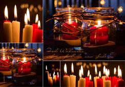 Weihnachtskarte, Weihnachten, Neujahrskarte, Gutenhof, Priska Ziswiler, Ettiswil, Fotokarte,  Kerzen, Kerzenlicht, Kerzenlichter, rote Kerzen, Schweiz,  Neujahrskarten, Karten zu Weihnachten, Fotokarten zu Weihnachten, Weihnachtskarten, Weihnachtskarten S