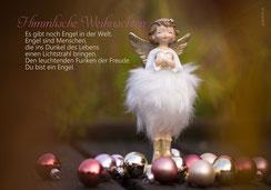 Weihanchtskarte Engel, Engel, Weihnachtskarten, Engel mit Herz