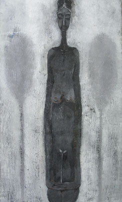 Woman in Woods  45.5×27.3cm  Oil on canvas  1993