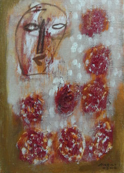 Feeling of  Flower  22.7×15.8cm Oil on canvas
