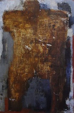 Walking man   60.6×41cm Oil on canvas
