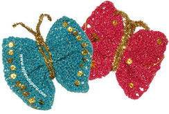 mariposas en dos agujas - knitted butterfly