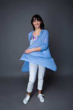 monCASHMERE - CASHMERE Jacke in Blau