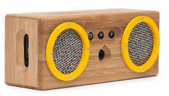 Bongo Speaker gelb abgedrehte Ansicht